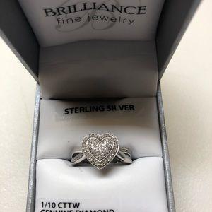 Dimond heart ring